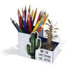 Porta-lápis Crie Cactos